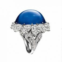 Diamantový prsteň so zafírom Harry Winston
